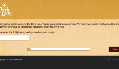 Park Lane Tavern Survey