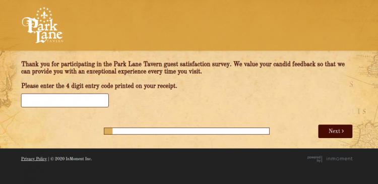Park Lane Tavern Survey