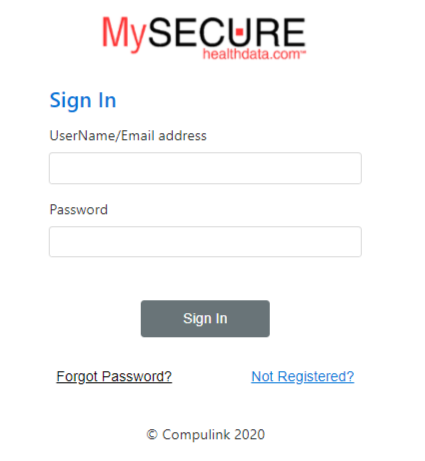 Secure health Login