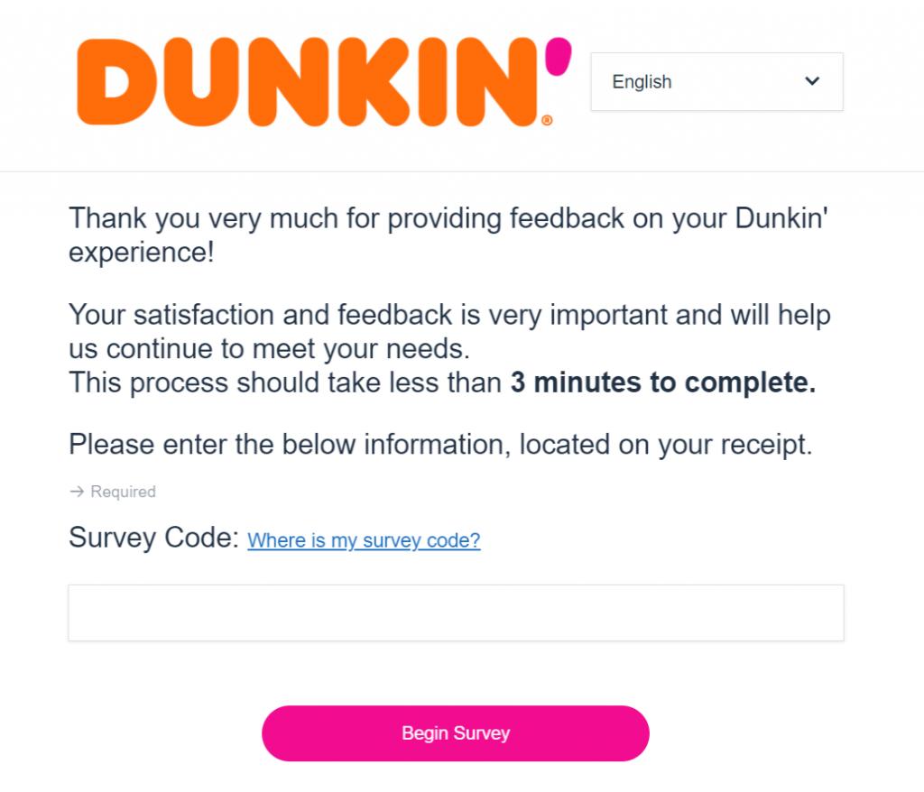 Telldunkins satisfaction Survey