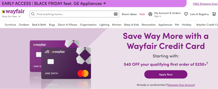 Wayfair promo codes